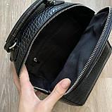 Чорний жіночий міні рюкзак, фото 7