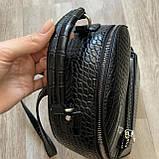 Чорний жіночий міні рюкзак, фото 9