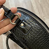 Чорний жіночий міні рюкзак, фото 10