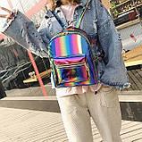 Детский блестящий рюкзак Радуга, фото 7