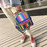 Детский блестящий рюкзак Радуга, фото 8
