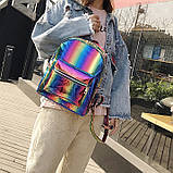 Детский блестящий рюкзак Радуга, фото 9