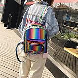 Детский блестящий рюкзак Радуга, фото 10