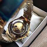 Чоловічий наручний годинник Winner Gold механіка в коробці, фото 4