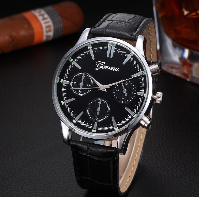 Чорні чоловічі наручні годинники