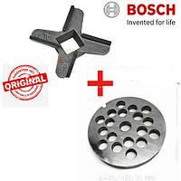 Нож+решетка 8мм. для мясорубки Bosch (бош)