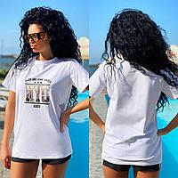 """Женская стильная удлиненная футболка """"NYC"""", фото 1"""