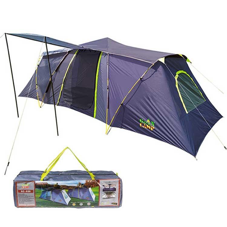 Палатка шести местная GreenCamp полуавтоматическая