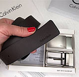 Мужской подарочный набор (кожаный ремень с двумя пряжками) (410), фото 4