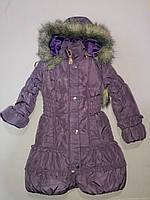 Зимняя курточка пальто для девочки 32,34 размер, фото 1