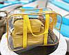 Комплект для пляжа - сумка силиконовая + 2 косметички (желтый), фото 2