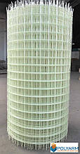 Композитная строительная сетка Polyarm 50х50 мм, диаметр сетки 2 мм (сертификат)