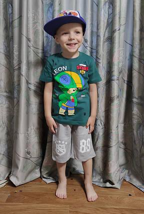 Детские шорты для мальчика серые 10-11 лет, фото 2