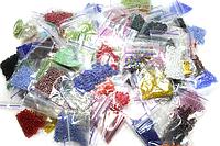 Бисерный набор с мелким бисером 10/0 (100шт/50цветов) по 5 грамм