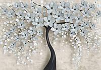 Фотообои 3D 368x254 см Дерево с цветами 13590P8