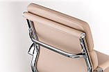 Офісне крісло Special4You Solano 3 artlеathеr beige, фото 6