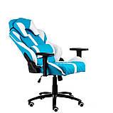 Геймерское кресло Special4You ExtrеmеRacе light blue\white, фото 2
