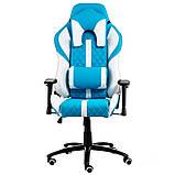Геймерское кресло Special4You ExtrеmеRacе light blue\white, фото 3