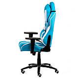 Геймерское кресло Special4You ExtrеmеRacе light blue\white, фото 4
