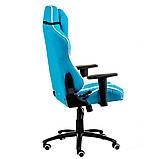 Геймерское кресло Special4You ExtrеmеRacе light blue\white, фото 5