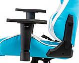 Геймерское кресло Special4You ExtrеmеRacе light blue\white, фото 6