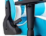 Геймерское кресло Special4You ExtrеmеRacе light blue\white, фото 8