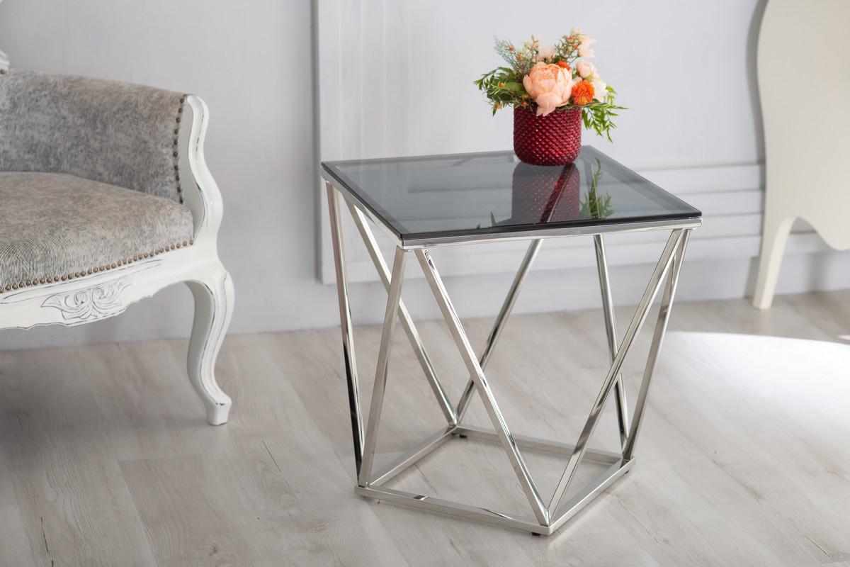 Журнальный стол CP-2 (тонированное + серебро)
