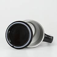 Непроливающаяся термокружка Bergamo Line Art Boss (470 мл) черная, фото 4
