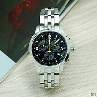 Мужские часы Tissot T-Sport PRC 200 Chronograph Silver-Black-Yellow ( AAA )