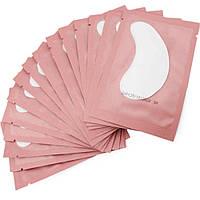 Патчи под глаза на гидрогеле для ламинирования и наращивания ресниц, в розовой упаковке
