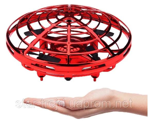 """Квадрокоптер мини """"Летающая тарелка"""", Ручной дрон UFO с Led подсветкой"""