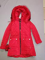 Зимняя курточка пальто для девочки  134,  см рост, фото 1
