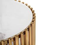 Журнальный стол CJ-1 (белый мрамор + золото), фото 2