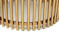 Журнальный стол CJ-1 (белый мрамор + золото), фото 3