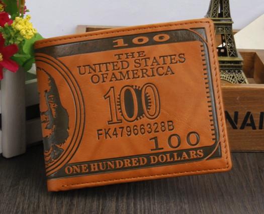 Гаманець чоловічий портмоне 100$ Долар