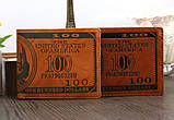 Гаманець чоловічий портмоне 100$ Долар, фото 2