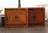 Кошелек мужской портмоне 100$ Доллар, фото 2