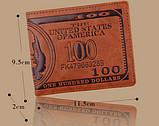 Гаманець чоловічий портмоне 100$ Долар, фото 6