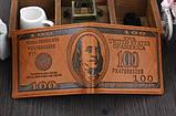 Кошелек мужской портмоне 100$ Доллар, фото 8