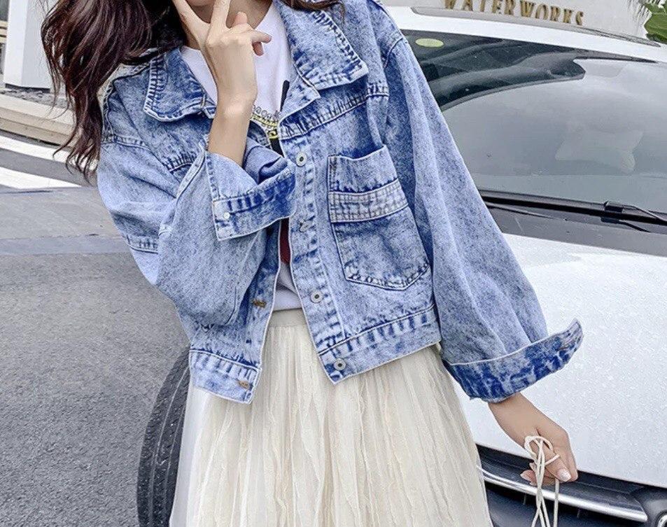 Куртка джинсова блакитна