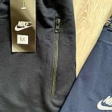 Синий мужской спортивный комплект шорты с футболкой. Летний спортивный костюм Nike реплика. Футболка + шорты, фото 4