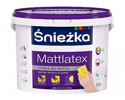 Краска латексная матовая Śnieżka MattLatex 1,4 кг