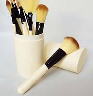 Набор кистей для макияжа в тубе 12 шт