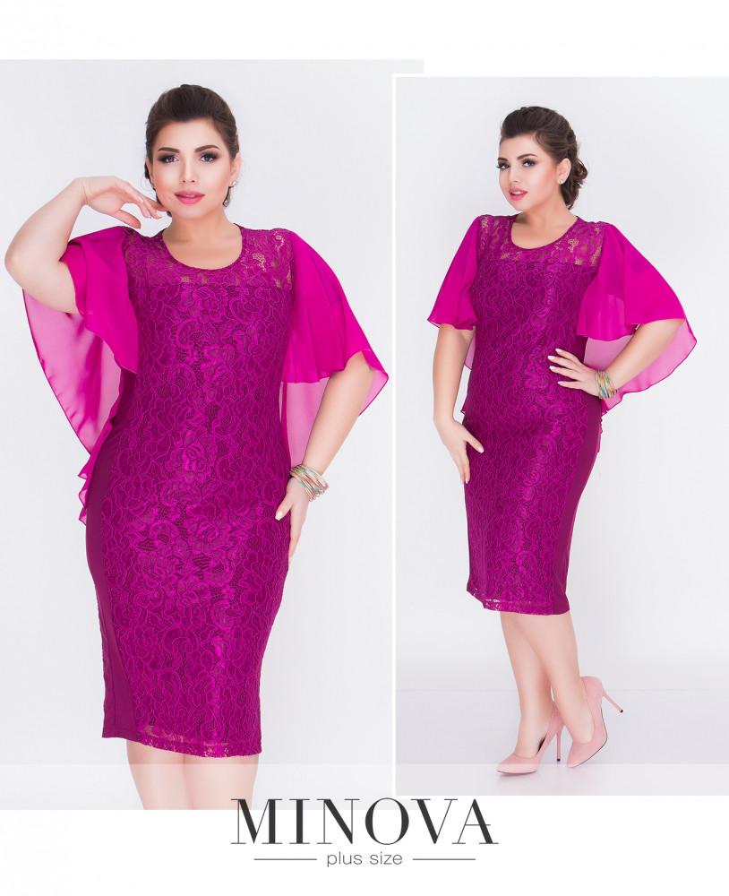 Платье ниже колена из гипюра (54)