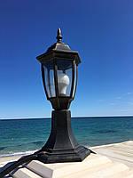 Уличный светильник-столбик PL6104 античное золото, Е27 металл, фото 1