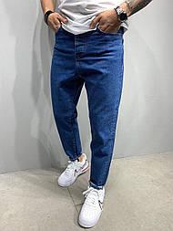 Джинсы - мужские синие джинсы бойфренд