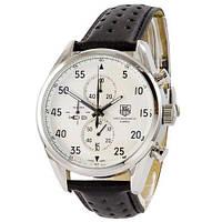 Мужские наручные часы кварцевые TAG Heuer Carrera 1887 SpaceX Chronograph Black-Silver-White