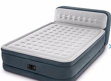 Двуспальная надувная кровать Intex 64448 (152 x 236 x 86 см) Ultra Plush Headboard Airbed
