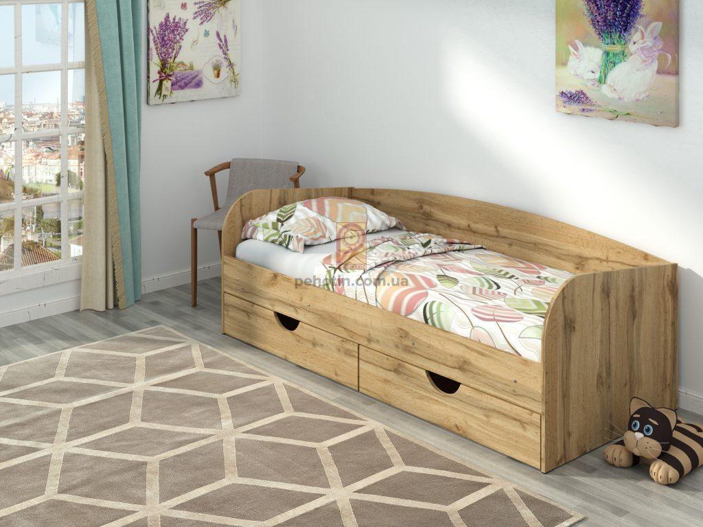 Детская кровать Соня-3 с ящиками для белья.