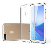 Чехол силиконовый для Huawei Y7 / Y7 Prime (2018) ультратонкий прозрачный (хуавей ю7), фото 1